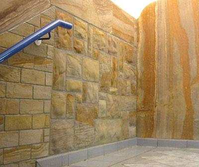 einsatz des flexiblen sandsteins im innenbereich ytterstone vertriebs gmbh. Black Bedroom Furniture Sets. Home Design Ideas